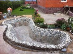 Have you been planning to design a beautiful piece of garden pond in your house garden? Landscaping Project Landscape Idea Project Difficulty: Simple www.MaritimeVintage.com #Landscaping #Landscape #DIY #Howto #Project #ProjectIdea #landscapingprojects #landscapingdiy