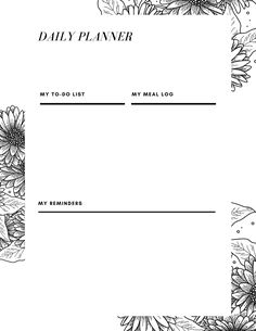 Choose from 50 different designs of free daily planner printables! Made to be simple, vertical calendar prints for your binder or desk. Black and white, minimalist, floral, and other options available. Cute Calendar, Daily Calendar, Print Calendar, To Do Lists Printable, Daily Planner Printable, Printables, T Baby, Baby Sleep, Parenting Advice