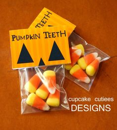 Cupcake Cutiees: Pumpkin Teeth - Halloween Fun Party Craft Digital DIY- Party Store would be cute for Blake's gym friends Halloween Snacks, Hallowen Food, Hallowen Ideas, Halloween Goodies, Halloween Birthday, Halloween Gifts, Holidays Halloween, Halloween Treats For School, Halloween Party Favors
