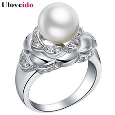 Find More Rings Information about Simulated Pearl Rings with Zircon Stones Fashion jewelry Anillos Mujer Joyas Acessorios Para Mulher Ornamentation Ulove J382,High Quality ring around the roses,China ring painting Suppliers, Cheap jewelry making ring from D&C Fashion Jewelry Buy to Get a Free Gift on Aliexpress.com