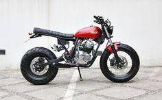"""Yamaha Scorpio """"The Red Tracker"""" by Studio Motor:"""
