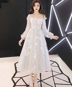 Designer Bridesmaid Dresses, Grey Bridesmaid Dresses, Designer Dresses, Tulle Prom Dress, Tulle Lace, Homecoming Dresses, White Tulle Dress, Dress Black, Lace Dress