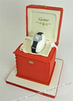 Cartier watch cake by Design Cakes, via Flickr