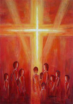 Gertrud Deppe - Kunst in Farbe - Unter dem Kreuz