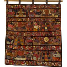 @Overstock - This hand-embroidered Mayan tapestry features multiple colors on brown background showing many traditional designs and patterns combined with motifs displaying other scenes of Mayan culture such as pyramids, the Quetzal bird, the sun and volcanoes.http://www.overstock.com/Worldstock-Fair-Trade/Brown-Hand-Embroidered-Mayan-Tapestry-Guatemala/7666781/product.html?CID=214117 $158.49