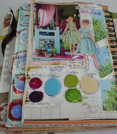 JOYCE- The designer used this visual journal for experiemnts of colours. This shows the variety using of the visual journal.