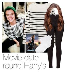 """""""REQUESTED: Movie date round Harry's"""" by style-with-one-direction ❤ liked on Polyvore featuring мода, American Apparel, Hue, OneDirection, harrystyles, 1d и harry styles one direction 1d"""