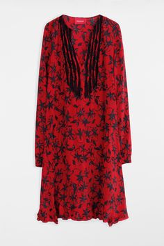 Zadig & Voltaire remus print robe printee red woman dress