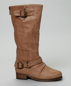 If little lasses are craving stylish comfort made with functional, cooler weather-appropriate materials, look no further than this fashionable knee-high boot. Boasting buckles and a solid sole for running around into piles of leaves, this pair will get lots of love on gray days.0.5'' heelApprox. 12'' shaftApprox. 9'' ca...