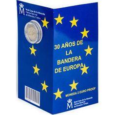 Cartera oficial euroset 2 Euros España 2015 Bandera EU. Proof.