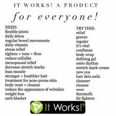 LOOKING FOR TESTERS Pick a product you think would help Get wholesale pricing…Jennsambition.itworks.com