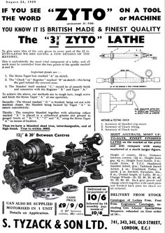 Zyto lathes revised models Check Register, Man Cave Furniture, Machine Tools, Lathe, Metal Working, Knowing You, Models, Wood Turning, Words
