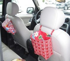 car trash bag or kids activity bags! Sewing Hacks, Sewing Tutorials, Sewing Crafts, Sewing Projects, Diy Projects, Sewing Patterns, Sewing Diy, Free Sewing, Quilting Projects