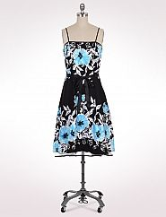 Belted Hibiscus Dress