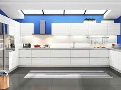 Pine Blanco RTA Modern Kitchen Cabinets