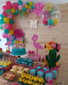 68 ideas for birthday decorations party themes 21st Party Themes, Birthday Party Decorations, 13th Birthday Parties, Luau Birthday, Flamenco Party, Flamingo Birthday, Tropical Party, Luau Party, Marie