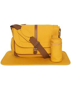 Mothercare Satchel Changing Bag- Mustard - baby changing bags - Mothercare