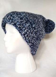 Adult Hand Knit Winter Hat by BlueBeYou on Etsy