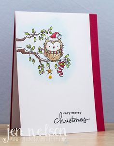 The Tiny Blue Butterfly: Christmas Owl Handcrafted Owls Painted Christmas Cards, Watercolor Christmas Cards, Printable Christmas Cards, Christmas Card Crafts, Christmas Drawing, Christmas Paintings, Watercolor Cards, Xmas Cards, Christmas Card Photo Ideas With Dog