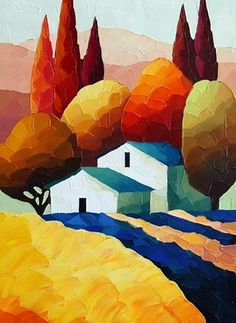 Medium: Giclee on Canvas Size (H x W): x Edition: 275 Item Landscape Quilts, Landscape Art, Landscape Paintings, Canvas Art, Canvas Size, Naive Art, Whimsical Art, Painting Inspiration, New Art