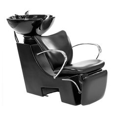 The Estelle Backwash Unit is a professional, sophisticated, and high quality backwash unit. Its modernistic sleek black design with chrome accents works wonderfully for salon décor. To further enhance