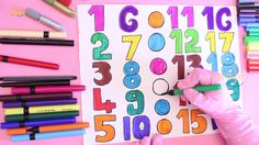 How to Draw Numbers 1 to 20 Learning Colors For Kids || Smiley Kids And ...