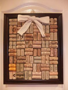 Wine Cork Board. cut the corks in half so they lay flat.