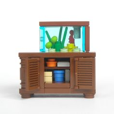 LEGO Aquarium, Love the cabinet it's on.