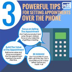 Here are 3 powerful sales tips to set up more appointments over the telephone. Sell the appointment, build value of the appointment and don't sound like a salesperson! Cold Calling Techniques, Entrepreneur, Solar, Insurance Marketing, Sales Techniques, Sales Tips, Skills To Learn, Focus On Yourself, Etiquette