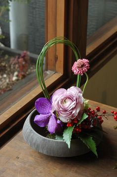 flower arrangement for New Year / お正月アレンジ