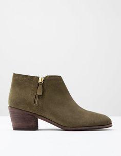Zip Low Heel Boot