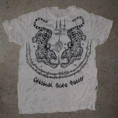 954a72c58d10ec 100% cotton crinkle style Sure Men t shirt Tigers Zodiac Hindu Love M-L  Tigers