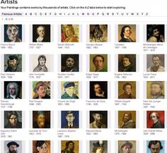If youre a teacher, you can now draw on paintings by nearly 20,000 artists, in a wide range of styles painted over the last 800 years.  Most of the great masters are well represented, with some of their best known works.