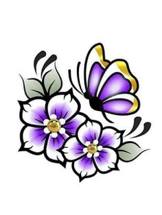 Tole Painting, Fabric Painting, Flower Images, Flower Art, Beautiful Flower Drawings, Rock Flowers, Nail Art Images, Native Beadwork, Butterfly Art