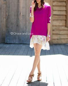 Fuchsia with Floral