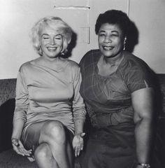 Marilyn Monroe and Ella Fitzgerald. ☚