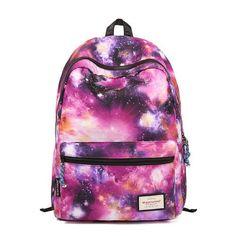 Fashion Galaxy Shining Girls School Canvas Backpacks