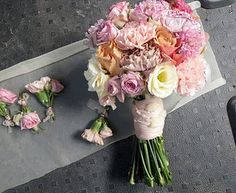 Carnation bouquet idea - we could just use one or two small groupings amongst the other flowers.