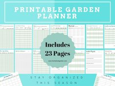 I love staying organized for the gardening season and helping others do the same!  Staying organized can really help you to have a successful and bountiful gardening season. When you keep track of your seeds, seedlings or harvests you become a better gardener and can troubleshoot problems better.