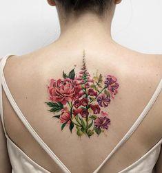Floral back piece by Deborah Genchi
