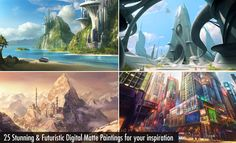 25 Stunning and Futuristic Digital Matte Paintings for your inspiration. Follow us www.pinterest.com/webneel