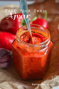 Würziges Ajvar {Make Your Own} Low Carb Recipes, Vegan Recipes, Cooking Recipes, Chutneys, Sauces, Chili Recipes, Diy Food, Soul Food, Food Photo
