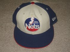 3d6089124c6e New Jersey Nets adult fitted size 7 New Era flat bill hat cap