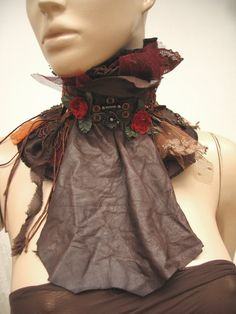 Steampunk CollarRomantic Feminine Steampunk by WILDandROMANTIC