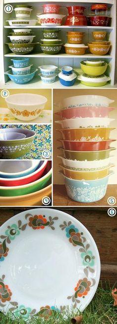 emma lamb: today I'm loving : colourful vintage pyrex!
