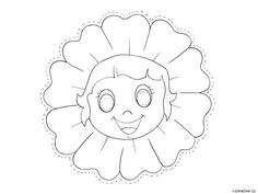 maska květinka