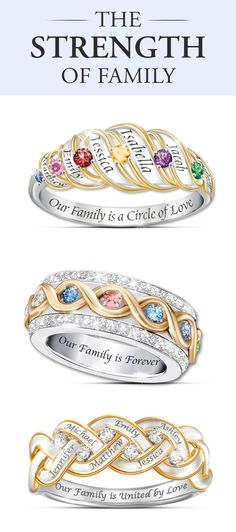 Honor the shared love of your family with these customizable women's rings. Personalize Now!
