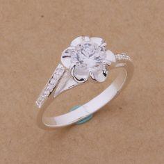 Pas cher Wr096 Hot vente 7 couleurs Noble fleur Zircon anneaux de mariage pour…
