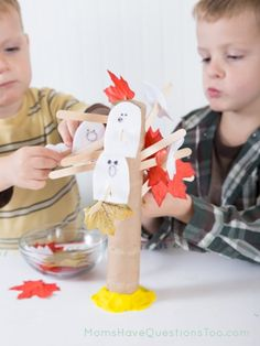 Ghosts and Leaves on a Tree #Kids Activity - Moms Have Questions Too