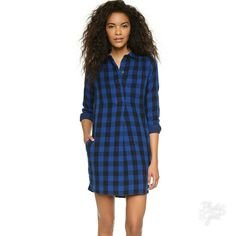 Madewell Jane Plaid Shirtdress Xxs